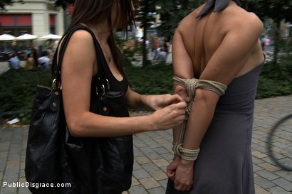 Photo number 2 from Exposed, Fucked and Humilated all in Public  shot for Public Disgrace on Kink.com. Featuring Tommy Pistol, Jacqueline Black Lady and Princess Donna Dolore in hardcore BDSM & Fetish porn.