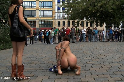 Photo number 4 from Exposed, Fucked and Humilated all in Public  shot for Public Disgrace on Kink.com. Featuring Tommy Pistol, Jacqueline Black Lady and Princess Donna Dolore in hardcore BDSM & Fetish porn.