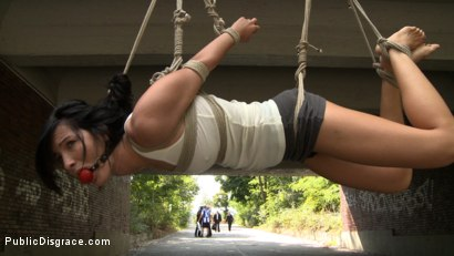 Photo number 3 from BEST OF EUROPE: Super Hot Euro Babe Disgraced in the Streets shot for Public Disgrace on Kink.com. Featuring Zenza Raggi and Bailey in hardcore BDSM & Fetish porn.