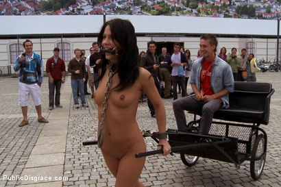 Photo number 5 from Ride the Pony shot for Public Disgrace on Kink.com. Featuring Zenza Raggi and Amabella in hardcore BDSM & Fetish porn.