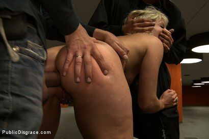 Photo number 14 from Shocked in the Street shot for Public Disgrace on Kink.com. Featuring Steve Holmes, Uma Masome, Zenza Raggi and Princess Donna Dolore in hardcore BDSM & Fetish porn.