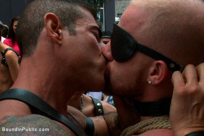 Photo number 9 from Dore Alley Pig shot for Bound in Public on Kink.com. Featuring Nick Moretti and Luke Riley in hardcore BDSM & Fetish porn.