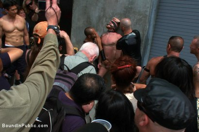 Photo number 5 from Dore Alley Pig shot for Bound in Public on Kink.com. Featuring Nick Moretti and Luke Riley in hardcore BDSM & Fetish porn.