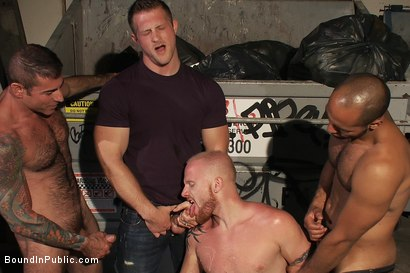 Photo number 12 from Dore Alley Pig shot for Bound in Public on Kink.com. Featuring Nick Moretti and Luke Riley in hardcore BDSM & Fetish porn.