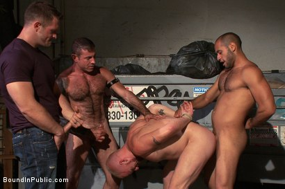Photo number 14 from Dore Alley Pig shot for Bound in Public on Kink.com. Featuring Nick Moretti and Luke Riley in hardcore BDSM & Fetish porn.