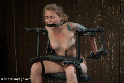 Photo number 13 from Bound in a custom metal bondage rig.<br> Made to cum, she can't stop the orgasms that rip though her shot for Device Bondage on Kink.com. Featuring Payton Bell in hardcore BDSM & Fetish porn.