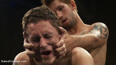 Photo number 10 from Jake Austin vs Trevor Laster shot for Naked Kombat on Kink.com. Featuring Jake Austin and Trevor Laster in hardcore BDSM & Fetish porn.