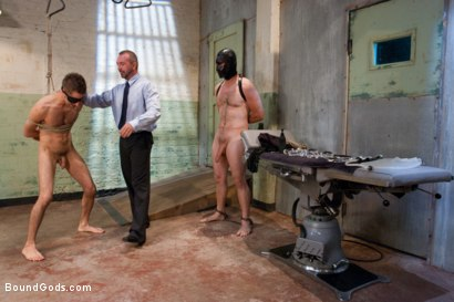 Photo number 2 from The Ass Master shot for Bound Gods on Kink.com. Featuring Josh West, Kyler Rogue and The GIMP in hardcore BDSM & Fetish porn.