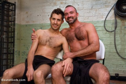 Photo number 15 from The Ass Master shot for Bound Gods on Kink.com. Featuring Josh West, Kyler Rogue and The GIMP in hardcore BDSM & Fetish porn.