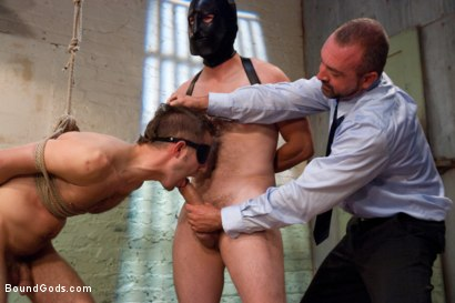 Photo number 8 from The Ass Master shot for Bound Gods on Kink.com. Featuring Josh West, Kyler Rogue and The GIMP in hardcore BDSM & Fetish porn.