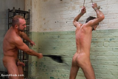 Photo number 9 from The Ass Master shot for Bound Gods on Kink.com. Featuring Josh West, Kyler Rogue and The GIMP in hardcore BDSM & Fetish porn.