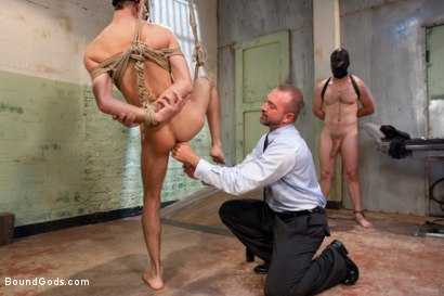 Photo number 4 from The Ass Master shot for Bound Gods on Kink.com. Featuring Josh West, Kyler Rogue and The GIMP in hardcore BDSM & Fetish porn.