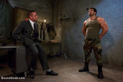 Photo number 1 from Don't Ask Don't Tell shot for Bound Gods on Kink.com. Featuring Vince Ferelli and Tyler Saint in hardcore BDSM & Fetish porn.