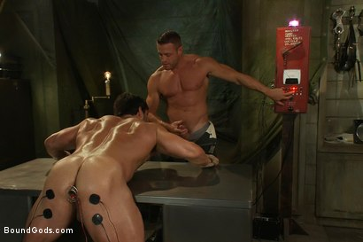 Photo number 7 from Don't Ask Don't Tell shot for Bound Gods on Kink.com. Featuring Vince Ferelli and Tyler Saint in hardcore BDSM & Fetish porn.