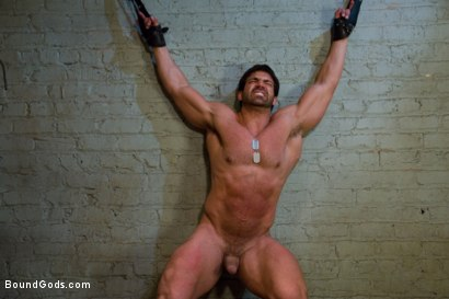 Photo number 6 from Don't Ask Don't Tell shot for Bound Gods on Kink.com. Featuring Vince Ferelli and Tyler Saint in hardcore BDSM & Fetish porn.