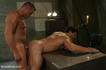 Photo number 9 from Don't Ask Don't Tell shot for Bound Gods on Kink.com. Featuring Vince Ferelli and Tyler Saint in hardcore BDSM & Fetish porn.