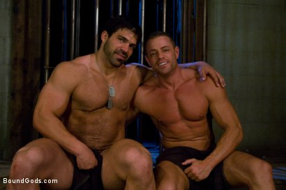 Photo number 15 from Don't Ask Don't Tell shot for Bound Gods on Kink.com. Featuring Vince Ferelli and Tyler Saint in hardcore BDSM & Fetish porn.