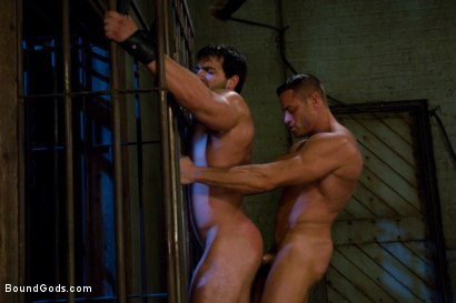 Photo number 13 from Don't Ask Don't Tell shot for Bound Gods on Kink.com. Featuring Vince Ferelli and Tyler Saint in hardcore BDSM & Fetish porn.