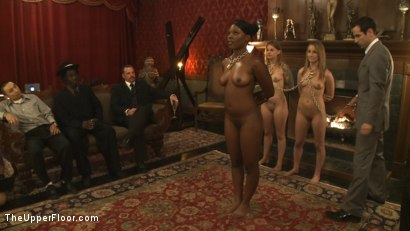 Photo number 1 from Fresh Meat Review shot for The Upper Floor on Kink.com. Featuring Payton Bell, Emma Haize, Gia DiMarco, Jessie Cox and Coffee Brown in hardcore BDSM & Fetish porn.