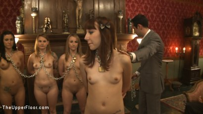 Photo number 11 from Fresh Meat Review shot for The Upper Floor on Kink.com. Featuring Payton Bell, Emma Haize, Gia DiMarco, Jessie Cox and Coffee Brown in hardcore BDSM & Fetish porn.