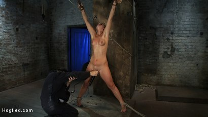 Photo number 12 from Califorina Blond bound spread<br>Pulled to the breaking point and made to cum HARD! shot for Hogtied on Kink.com. Featuring Tara Lynn Foxx and Isis Love in hardcore BDSM & Fetish porn.