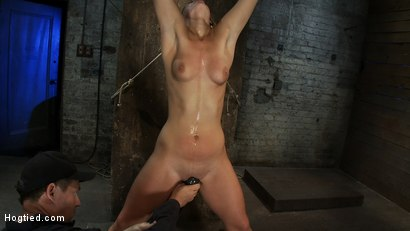 Photo number 7 from Califorina Blond bound spread<br>Pulled to the breaking point and made to cum HARD! shot for Hogtied on Kink.com. Featuring Tara Lynn Foxx and Isis Love in hardcore BDSM & Fetish porn.