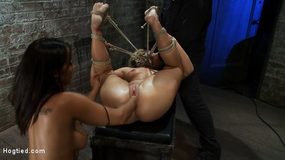 Photo number 11 from Fucked and Fisted<br>Tara gets the Isis Love treatment! shot for Hogtied on Kink.com. Featuring Tara Lynn Foxx and Isis Love in hardcore BDSM & Fetish porn.