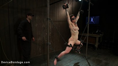 Photo number 1 from Chained in the Air and Brutalized shot for Device Bondage on Kink.com. Featuring Vivienne Del Rio in hardcore BDSM & Fetish porn.
