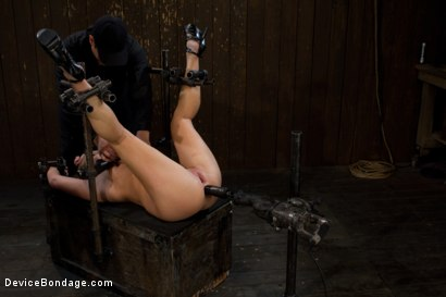 Photo number 11 from Porn's Youngest Legend Gets Machine Fucked in the Ass shot for Device Bondage on Kink.com. Featuring Aurora Snow in hardcore BDSM & Fetish porn.