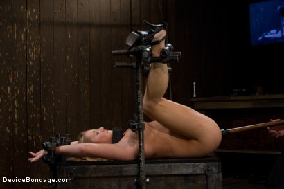 Photo number 9 from Porn's Youngest Legend Gets Machine Fucked in the Ass shot for Device Bondage on Kink.com. Featuring Aurora Snow in hardcore BDSM & Fetish porn.