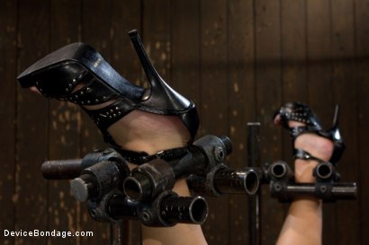 Photo number 4 from Porn's Youngest Legend Gets Machine Fucked in the Ass shot for Device Bondage on Kink.com. Featuring Aurora Snow in hardcore BDSM & Fetish porn.