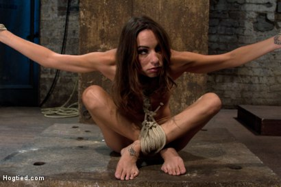 Photo number 4 from Cute girl suffers category 5 suspension<br> Hung by only neck and ankles, and cumming like a slut. shot for Hogtied on Kink.com. Featuring Amber Rayne in hardcore BDSM & Fetish porn.