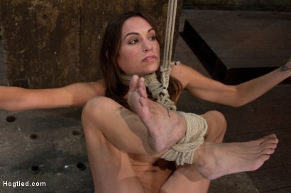 Photo number 5 from Cute girl suffers category 5 suspension<br> Hung by only neck and ankles, and cumming like a slut. shot for Hogtied on Kink.com. Featuring Amber Rayne in hardcore BDSM & Fetish porn.