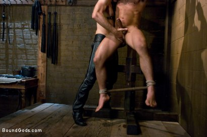 Photo number 10 from Master Avery shot for Bound Gods on Kink.com. Featuring Master Avery and Leo Forte in hardcore BDSM & Fetish porn.