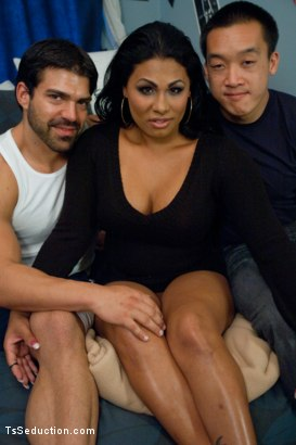 Photo number 15 from A Dorm Room Threesome with a Surprise 3rd Cock shot for TS Seduction on Kink.com. Featuring TS Doll, Mike and Vince Ferelli in hardcore BDSM & Fetish porn.