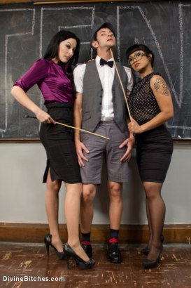Photo number 1 from Hot For Teacher shot for Divine Bitches on Kink.com. Featuring Nomad, January Seraph and DragonLily in hardcore BDSM & Fetish porn.