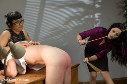 Photo number 12 from Hot For Teacher shot for Divine Bitches on Kink.com. Featuring Nomad, January Seraph and DragonLily in hardcore BDSM & Fetish porn.