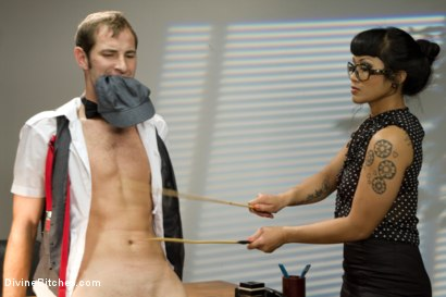 Photo number 3 from Hot For Teacher shot for Divine Bitches on Kink.com. Featuring Nomad, January Seraph and DragonLily in hardcore BDSM & Fetish porn.