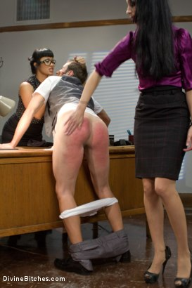 Photo number 13 from Hot For Teacher shot for Divine Bitches on Kink.com. Featuring Nomad, January Seraph and DragonLily in hardcore BDSM & Fetish porn.