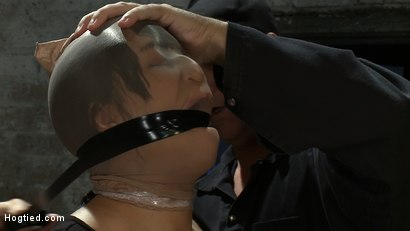Photo number 4 from Girl from Hawaii, walks into the wrong sub basement,<br> Gets the Insex treatment.  So helpless.. shot for Hogtied on Kink.com. Featuring Kayme Kai in hardcore BDSM & Fetish porn.