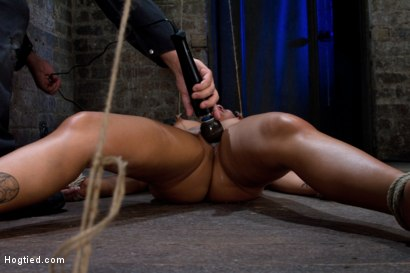 Photo number 14 from Tied and Stretch Huge Nipples<br>Brutal Squirting Orgasms<br>Screaming Never Sounded so Good. shot for Hogtied on Kink.com. Featuring Kayme Kai in hardcore BDSM & Fetish porn.