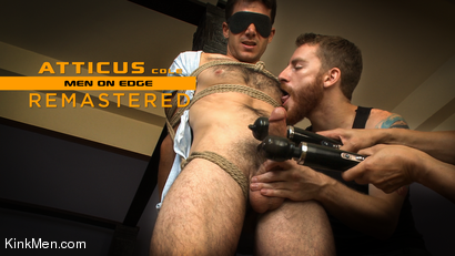 Atticus Cole: Handsome Big Cock Straight Stud Gets Edged