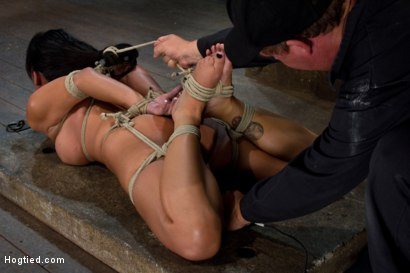 Photo number 7 from Sexy Hawaiian brutally hogtied suffering orgasm after orgasm until she is lying in her own squirt.  shot for Hogtied on Kink.com. Featuring Kayme Kai in hardcore BDSM & Fetish porn.