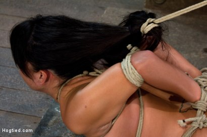 Photo number 10 from Sexy Hawaiian brutally hogtied suffering orgasm after orgasm until she is lying in her own squirt.  shot for Hogtied on Kink.com. Featuring Kayme Kai in hardcore BDSM & Fetish porn.