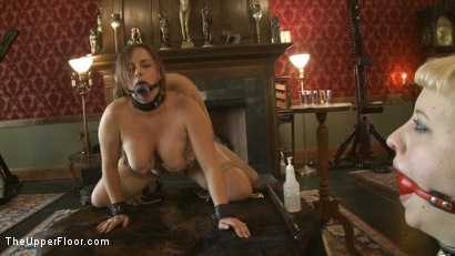Photo number 3 from Sex slaves go to work for sadistic Masters and Mistresses shot for The Upper Floor on Kink.com. Featuring Cherry Torn and Bella Rossi in hardcore BDSM & Fetish porn.