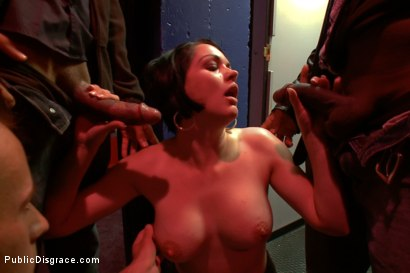 Photo number 8 from What would happen if 2 hot girls wandered into a sex store<br>with glory holes?<br>Pretty much this shot for Public Disgrace on Kink.com. Featuring Cassidy Lynn and Natasha Nice in hardcore BDSM & Fetish porn.