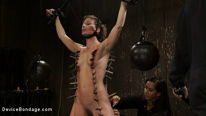 Photo number 5 from Ariel X takes on the double reverse zipper<br>and FOUR Dommes shot for Device Bondage on Kink.com. Featuring Isis Love, Madison Young and Ariel X in hardcore BDSM & Fetish porn.