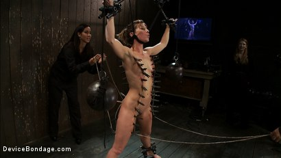 Photo number 10 from Ariel X takes on the double reverse zipper<br>and FOUR Dommes shot for Device Bondage on Kink.com. Featuring Isis Love, Madison Young and Ariel X in hardcore BDSM & Fetish porn.