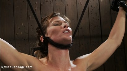Photo number 15 from Ariel X takes on the double reverse zipper<br>and FOUR Dommes shot for Device Bondage on Kink.com. Featuring Isis Love, Madison Young and Ariel X in hardcore BDSM & Fetish porn.