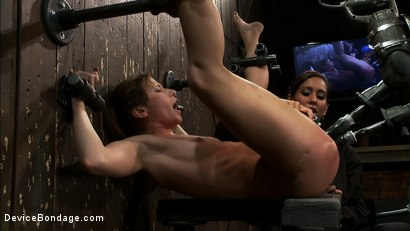 Photo number 11 from ALPHA in the ass, OMEGA in the pussy.<br>Ariel X is taking the fucking<br>of a lifetime!  shot for Device Bondage on Kink.com. Featuring Isis Love, Madison Young and Ariel X in hardcore BDSM & Fetish porn.